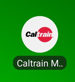Caltrainのスマホアプリ